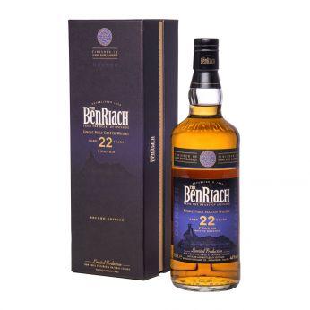 BenRiach 22y Dunder Peated 2nd Edition Dark Rum Finish Single Malt Scotch Whisky 70cl
