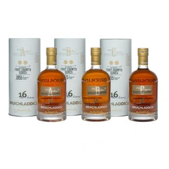 Bruichladdich The Sixteens First Growth Series A - F komplette Serie 6x70cl