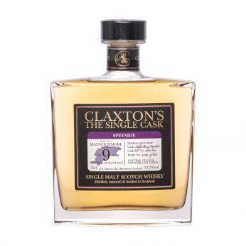 Mannochmore 2010 9y Cask#2088-8121 Claxton's Single Malt Scotch Whisky 70cl