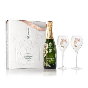 Perrier-Jouet Belle Epoque 2012 Brut Champagne AOC Geschenkpackung mit 2 Gläsern 75cl