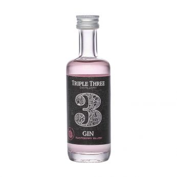 Triple Three Gin Raspberry Blush Miniature 5cl