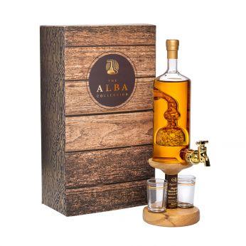 Whisky Barley Tap mit 2 Gläsern und Hahn Highland Malt Scotch Whisky 35cl