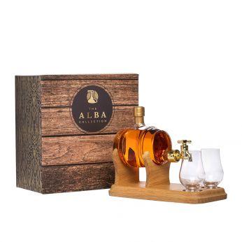 Whisky Barrel Tap mit 2 Gläsern und Hahn Highland Malt Scotch Whisky 35cl
