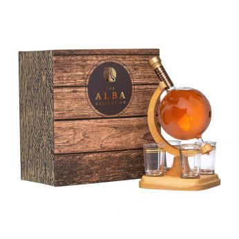 Whisky Globe mit 4 Gläsern Highland Malt Scotch Whisky