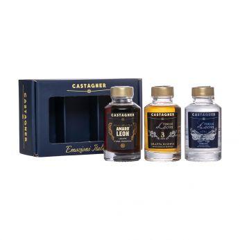 Castagner Set Emozioni Italiane Amaro Leon, Leon Prosecco, Leon 3 anni 3x10cl