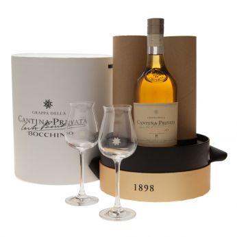 Bocchino Cantina Privata 8y Geschenkpackung mit 2 Gläsern 70cl