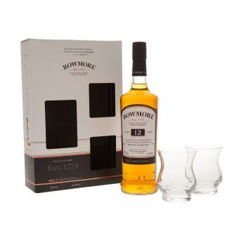 Bowmore 12y Geschenkpackung mit 2 Gläsern 70cl