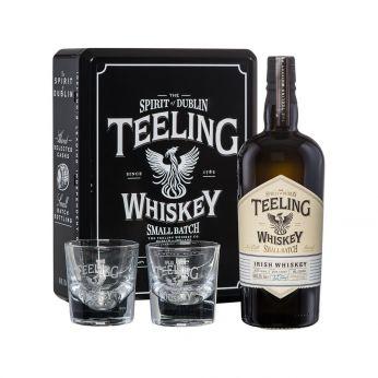 Teeling Geschenkpackung 2018 (schwarz) Small Batch Rum Cask mit 2 Gläsern 70cl