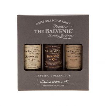 Balvenie Tasting Collection Set Double Wood 12y, Double Wood 17y, Caribbean Cask 14y 3x5cl