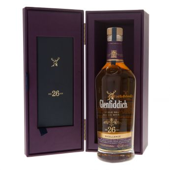 Glenfiddich 26y Excellence Single Malt Scotch Whisky 70cl