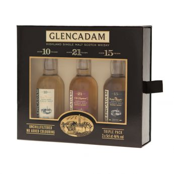 Glencadam Miniatures Triple Pack 10y, 15y, 21y 3x5cl