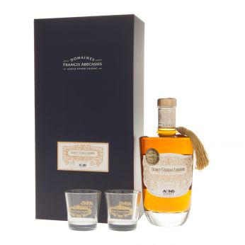 Abecassis ABK6 Honey Cognac Liqueur Geschenkpackung mit 2 Gläsern 70cl