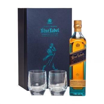 Johnnie Walker Blue Label Geschenkpackung mit 2 Gläsern 70cl