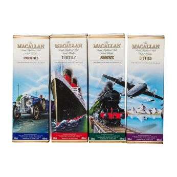 Macallan Twenties, Thirties, Fourties, Fifties, Complete Travel Series 4x50cl