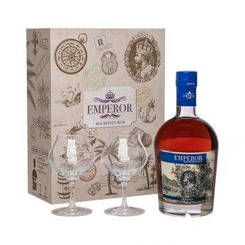 Emperor Heritage Mauritian Rum Geschenkpackung mit 2 Gläsern 70cl