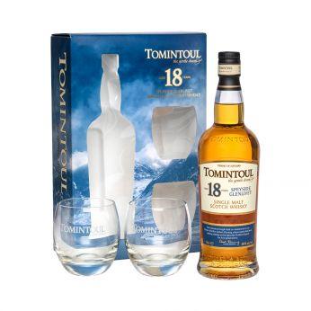 Tomintoul 18y Geschenkpackung mit 2 Gläsern Single Malt Scotch Whisky 75cl