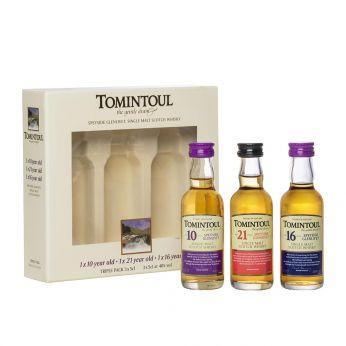 Tomintoul Miniatures Triple Pack 10y, 16y, 21y 3x5cl