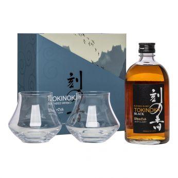 White Oak Tokinoka Black Geschenkpackung mit 2 Gläsern 50cl