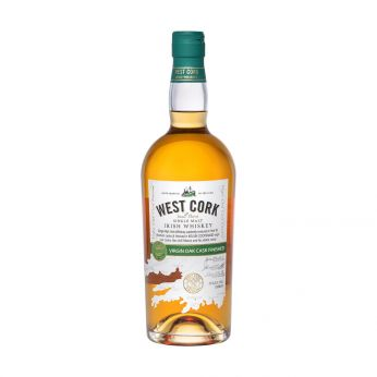 West Cork Virgin Oak Cask Finished Small Batch Single Malt Irish Whiskey 70cl