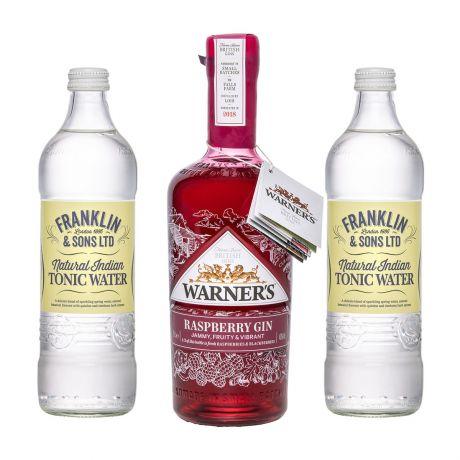 Warner's Raspberry Gin mit 2 x Franklin & Sons Tonics 70cl+2x500ml