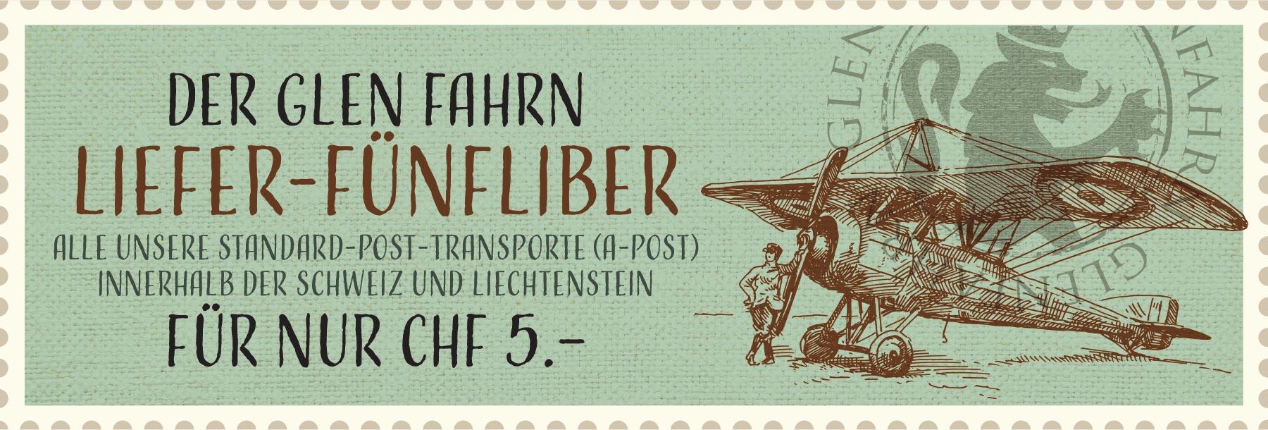 Glen Fahrn Liefer-Fünflieber Transport Kosten
