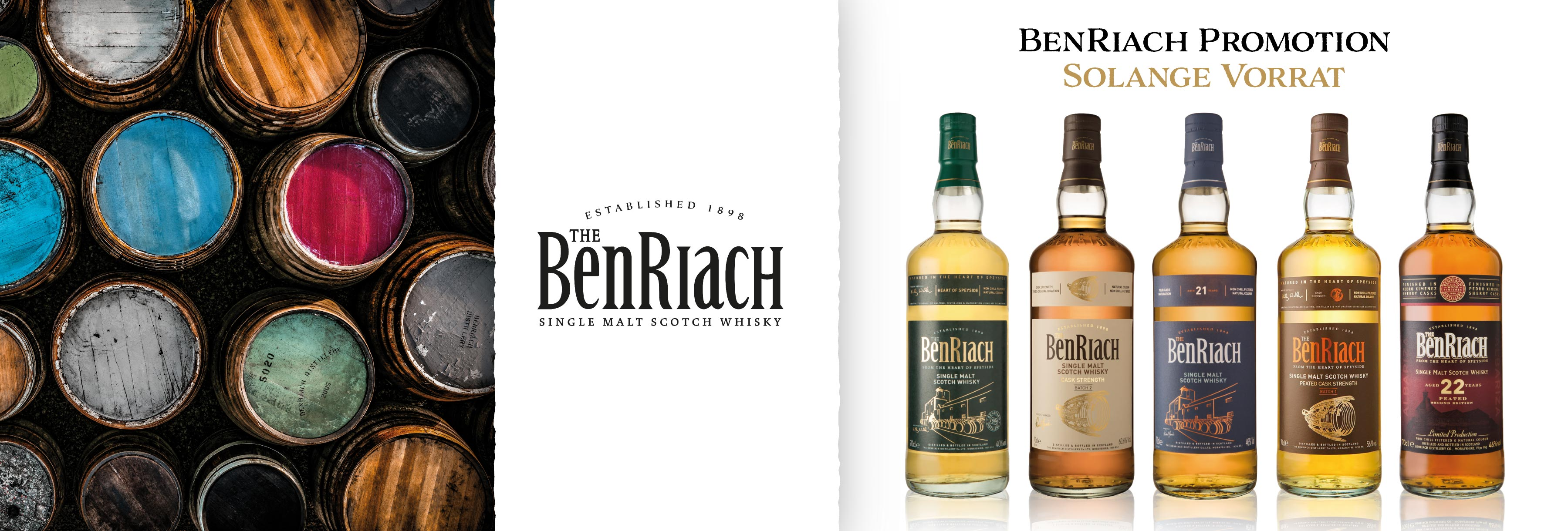 Benriach Promotion Glen Fahrn Single Malt Speyside Alte Abfüllungen Whisky