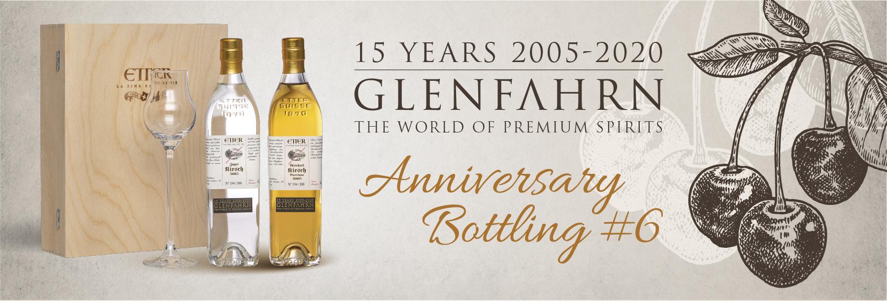Glen Fahrn 15th Anniversary Bottling #6 Etter Set Jahrgangs-Edelkirsch