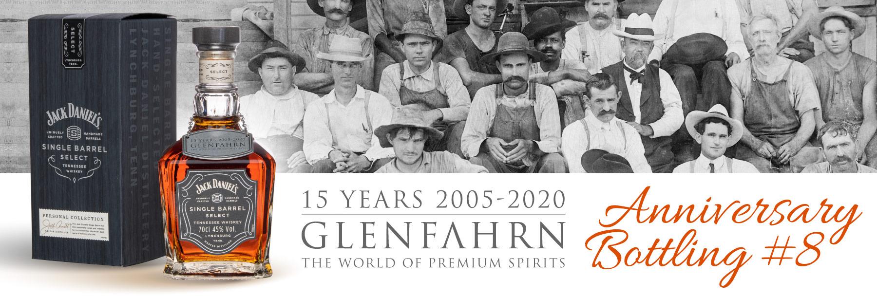 Glen Fahrn 15th Anniversary Bottling #8 Jack Daniel's Jubiläumsabfüllung Bourbon Amerika
