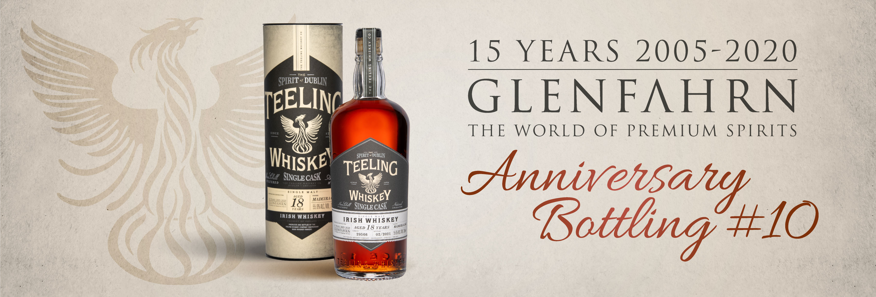 Teeling 18 Glen Fahrn Anniversary Jubiläum Whiskey Whisky Rar Selten Single Cask Einzelfass Geschenk