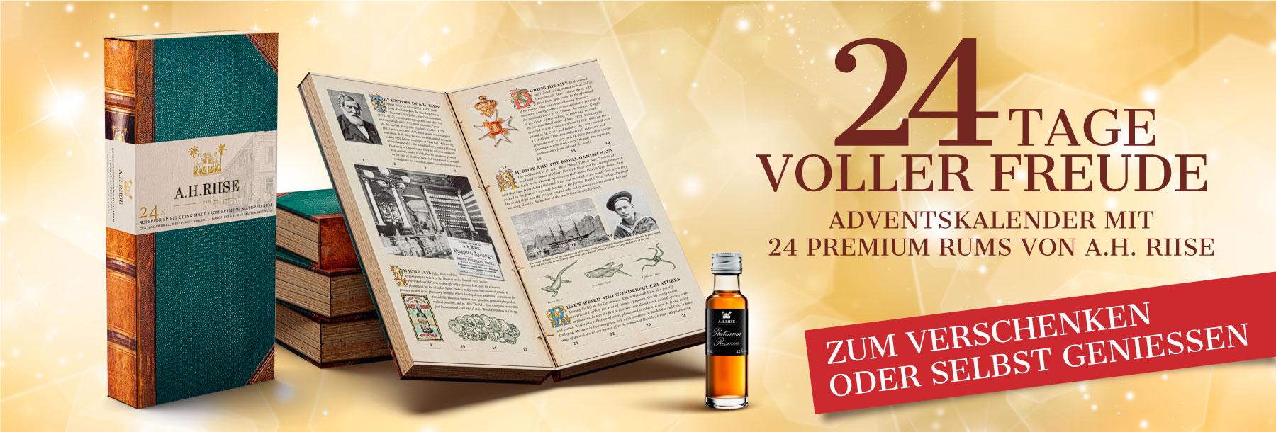Riise Rum Adbventskalender Tasting Weihnachten Geschenk für Sie für Ihn