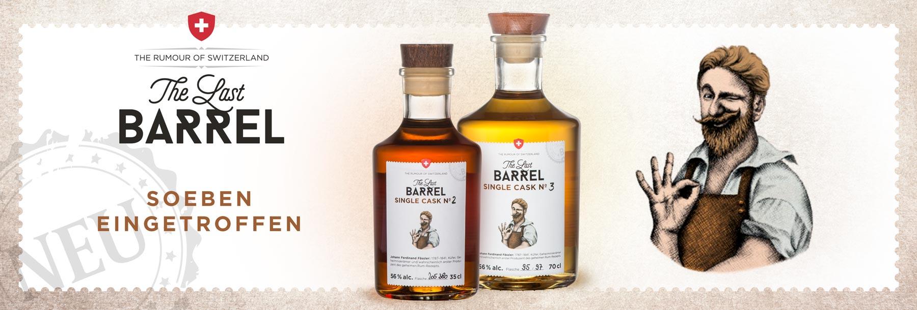Last Barrel Single Cask neu eingetroffen Rum aus der Schweiz Zuckerrübe