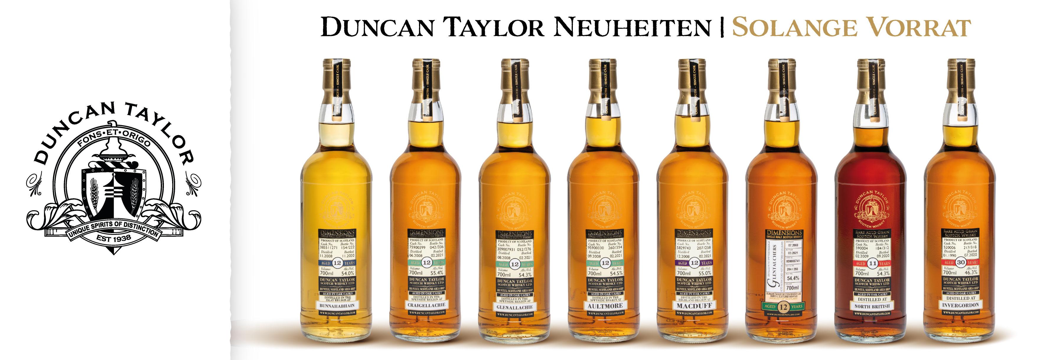 Duncan Taylor Single Cask Neuheiten Juni 2021 Glen Fahrn Whisky Whiskies Rare Günstig