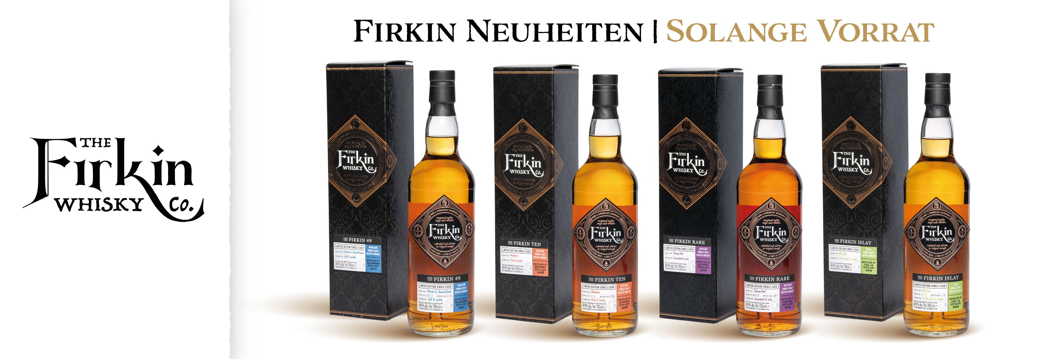 Firkin Neuheiten Independet Bottler Spencer Collings Glen Fahrn Single Cask Whisky Whiskies Rar