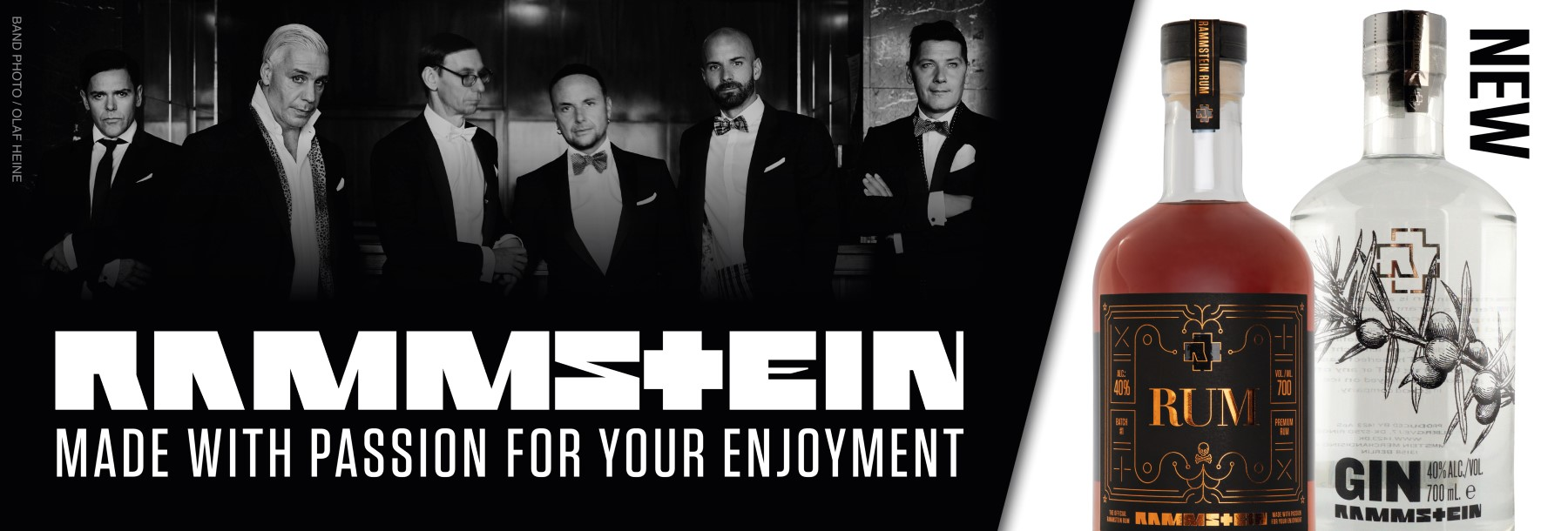 Rammstein Rum Rammstein Gin official band rum gin